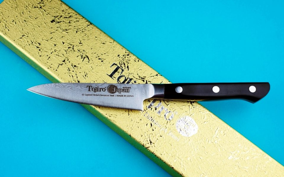 Cuchillo puntilla tojiro pro63 acero de damasco forjado - Cuchillo de cocina acero damasco ...