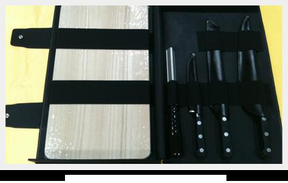 Estuches a medida para cuchillos y tablas de cortar
